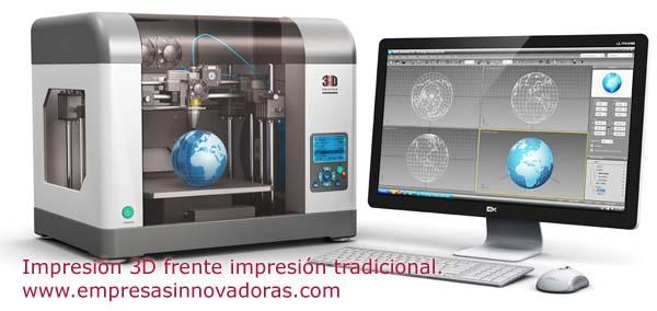 Impresión 3D frente impresión tradicional