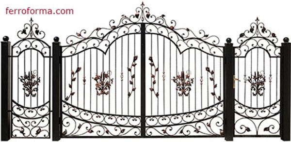 Puertas de hierro de segunda mano para finca finest for Fotos de puertas de hierro