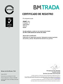 Certificado de Calidad   Ormet
