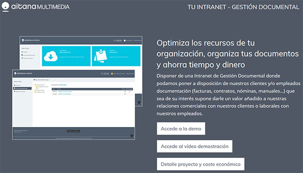 Intranet de Gestión Documental - Aitana Multimedia
