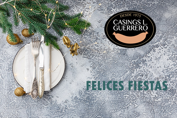 Felices fiestas os desea Casings L. Guerrero